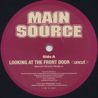 Main Source / Looking At The Front Door(Uncut) c/w Time back