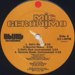 Mic Geronimo / It's Real label