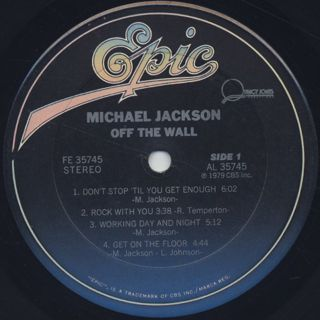 Michael Jackson / Off The Wall label