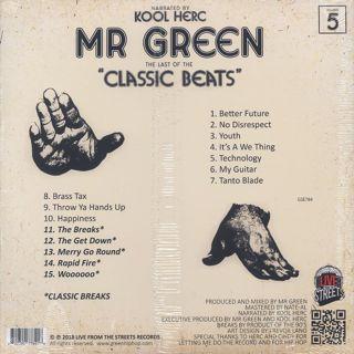 Mr. Green + DJ Kool Herc / Last Of The Classic Beats back