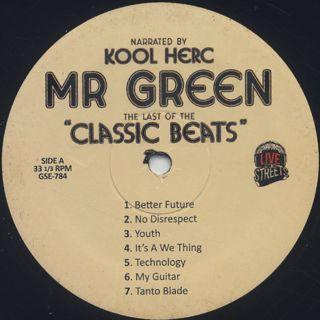 Mr. Green + DJ Kool Herc / Last Of The Classic Beats label