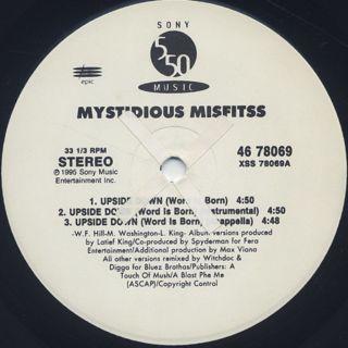 Mystidious Misfitss / Upside Down (Word Is Born) label