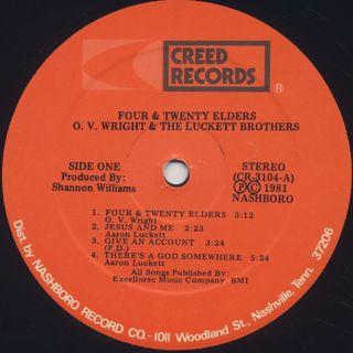O.V.Wright & The Luckett Bros. / 4&20 Elders label
