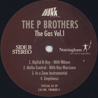 P Brothers / The Gas Vol.1 back