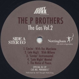 P Brothers / The Gas Vol. 2 back