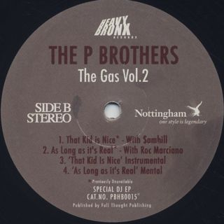 P Brothers / The Gas Vol. 2 label