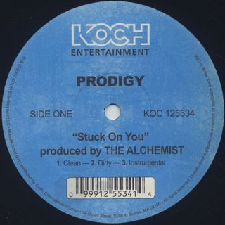 Prodigy / Stuck On You c/w Return Of The Mac front
