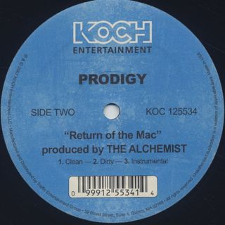 Prodigy / Stuck On You c/w Return Of The Mac back