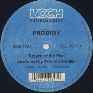 Prodigy / Stuck On You c/w Return Of The Mac back