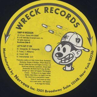 Smif N Wessun / Bucktown c/w Let's Get It On back
