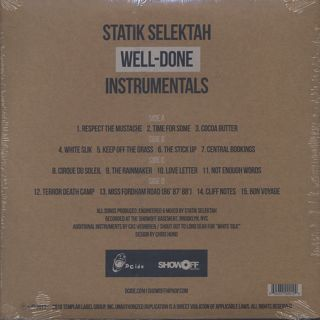 Statik Selektah / Well-Done Instrumentals back