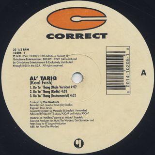 Al' Tariq / Do Yo' Thang back