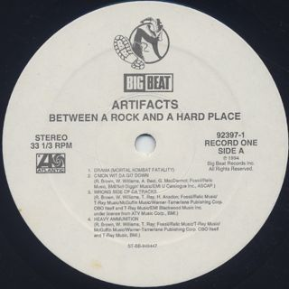 Artifacts / Between A Rock And A Hard Place label