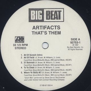 Artifacts / That's Them label