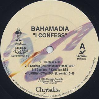 Bahamadia / i confess label