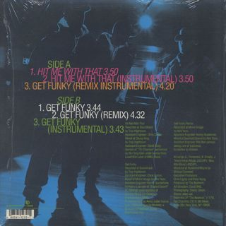 Beatnuts / Hit Me With That c/w Get Funky back