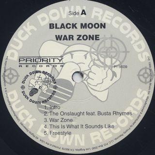 Black Moon / War Zone label