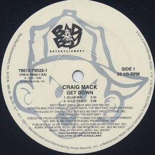 Craig Mack / Get Down (Remix) label