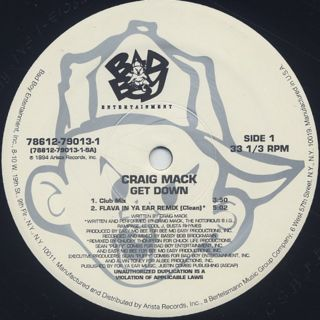 Craig Mack / Get Down label