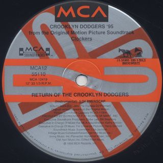 Crooklyn Dodgers '95 / Return Of The Crooklyn Dodgers label