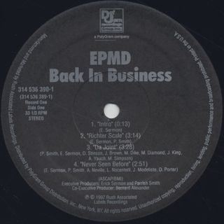 EPMD / Back In Business label