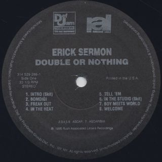 Erick Sermon / Double Or Nothing label