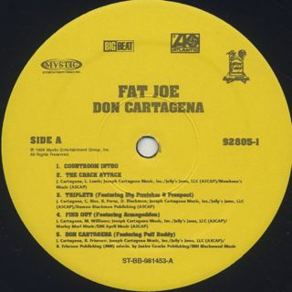 Fat Joe / Don Cartagena label