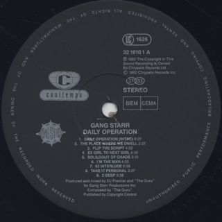 Gang Starr / Daily Operation label