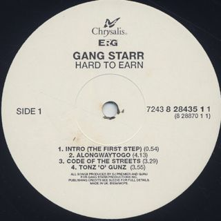 Gang Starr / Hard To Earn label