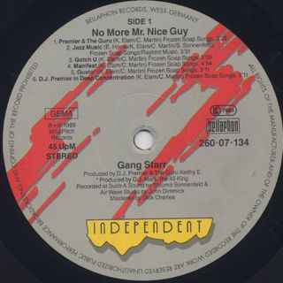 Gang Starr / No More Mr. Nice Guy label