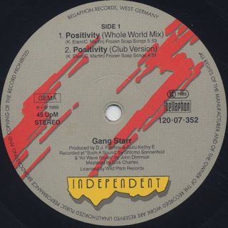 Gang Starr / Positivity label