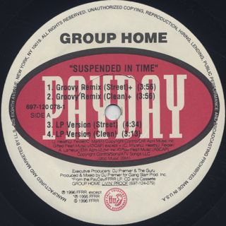 Group Home / Suspended In Time label