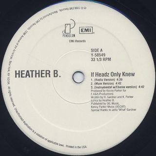 Heather B. / If Headz Only Knew label
