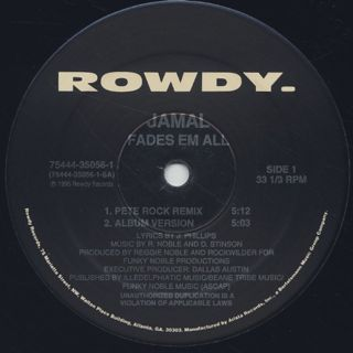 Jamal / Fades Em All (Pete Rock Remix) label