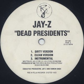 Jay-Z / Dead Presidents c/w Jay-Z's Listening Party