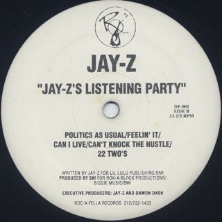 Jay-Z / Dead Presidents c/w Jay-Z's Listening Party back