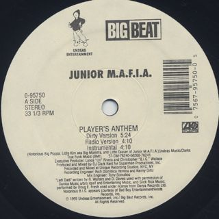 Junior M.A.F.I.A. / Players Anthem label
