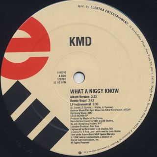 KMD / What A Nigga Know? label