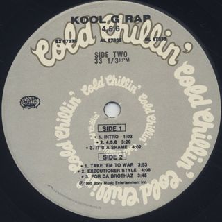 Kool G Rap / 4, 5, 6 (2LP) label