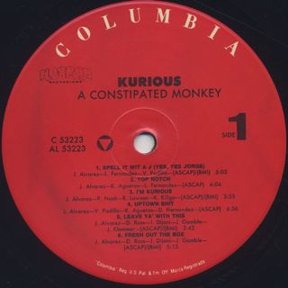 Kurious / A Constipated Monkey label