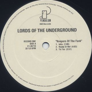 Lords Of The Underground / Keepers Of The Funk label
