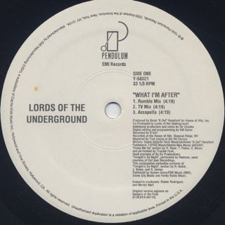 Lords Of The Underground / What I'm After back