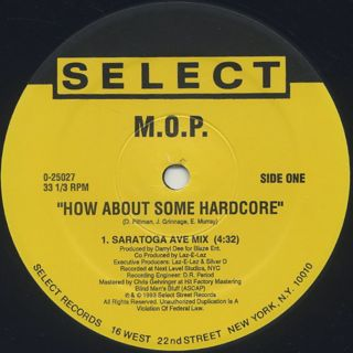 M.O.P. / How About Some Hardcore label