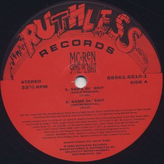 MC Ren / Same Ol' Shit label