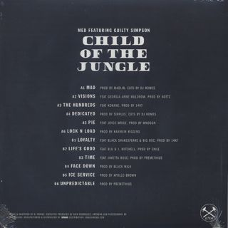 MED Featuring Guilty Simpson / Child Of The Jungle back