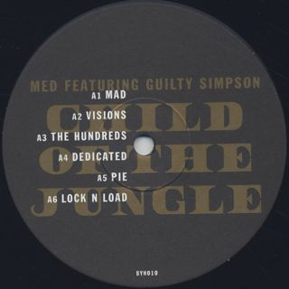 MED Featuring Guilty Simpson / Child Of The Jungle label