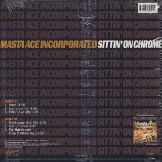 Masta Ace Incorporated / Sittin' On Chrome back