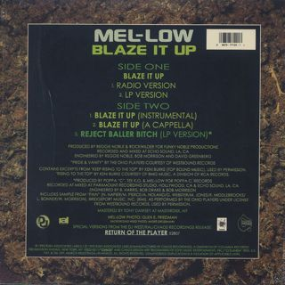 Mel-Low / Blaze It Up back