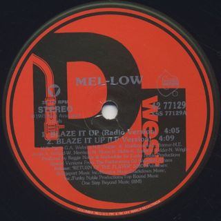 Mel-Low / Blaze It Up label