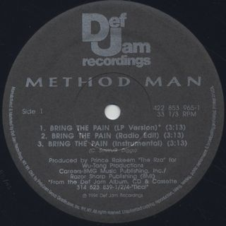 Method Man / Bring The Pain label